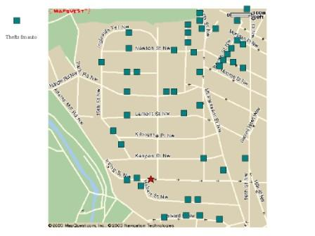 map of thefts from auto, Mt Pleasant